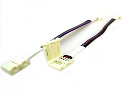4 PZ Connettore 10mm Per Collegare Due Strip Led Smd RGB 5050 Senza Saldare