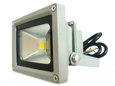 Faro A Led Da Esterno IP65 Bianco Caldo 220V 10W = 95W Led Flood Light