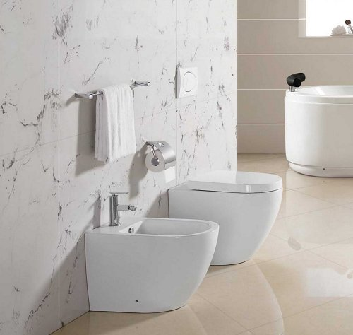 Sanitari bagno a terra wc, bidet copriwater soft close EASY