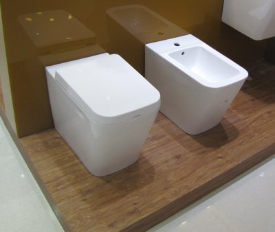 Sanitari bagno a terra wc, bidet copriwater soft close OBLONG