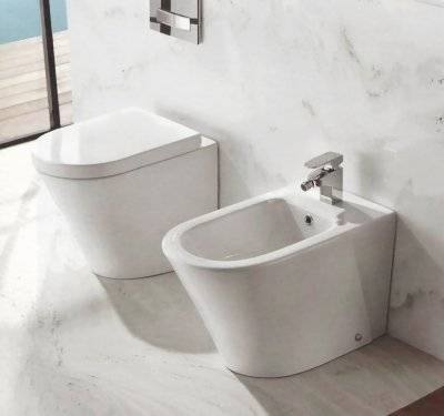 Sanitari moderni, wc, bidet, copriwater soft close OASY