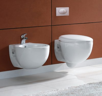 Sanitari sospesi, wc, bidet, copriwater soft close FOXY